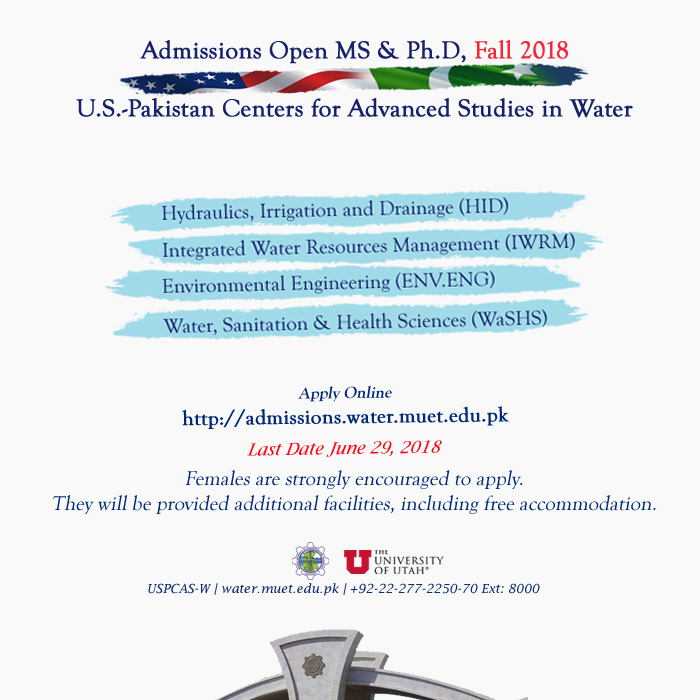 USPCAS-W Admissions Open Fall 2018