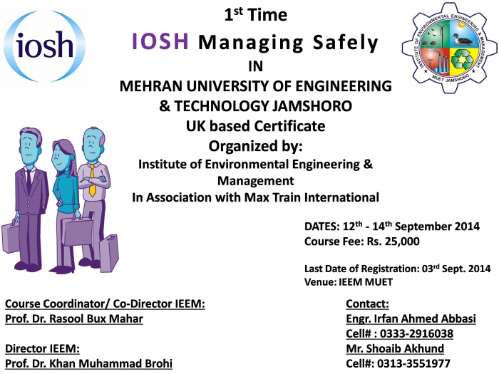 IOSH managing Safely training course Pakistan