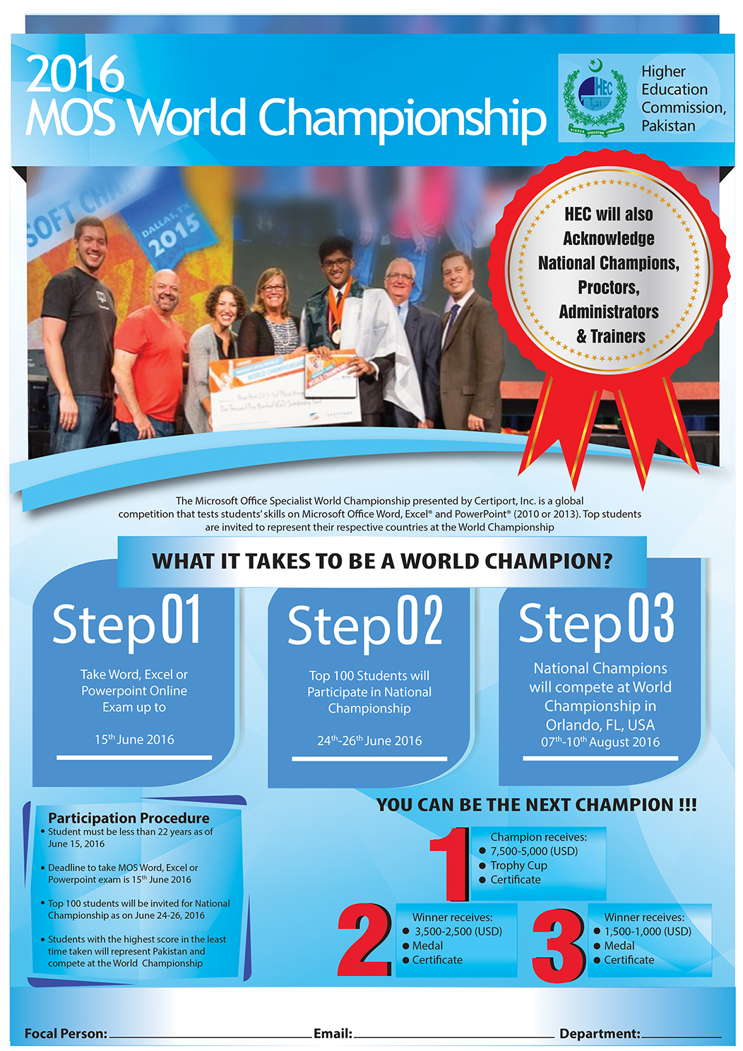 Microsoft office specialist mos championship 2016 mehran mos world championship is scheduled on 7th to 10th august at orlando fl usa at first stage online exams will be conducted at certiport test centers 1betcityfo Gallery