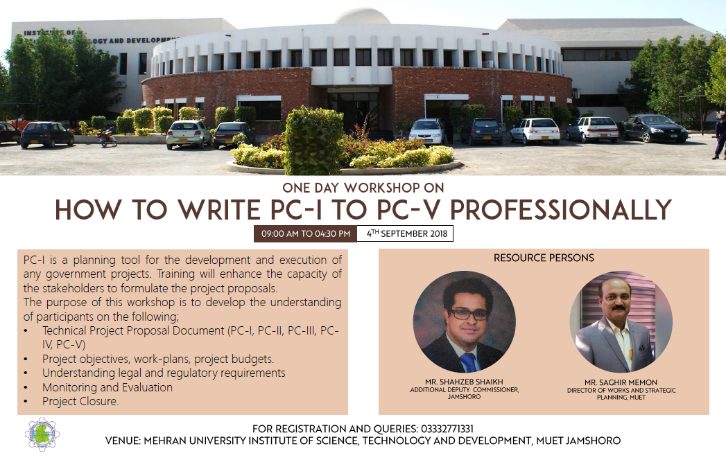 "One Day Workshop on ""How to Write PC-I to PC-V Professionally"""