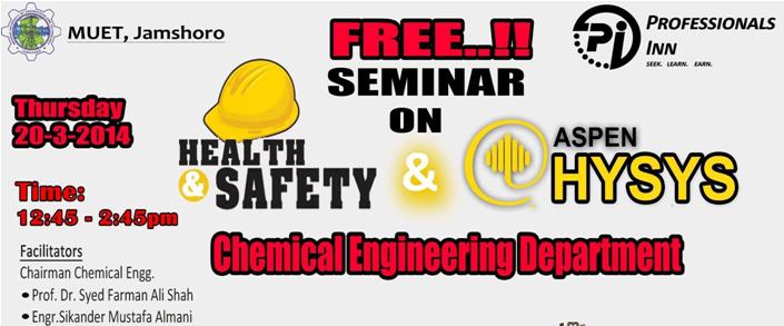 Professional Awareness Seminar at Chemical Engineering